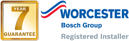 Worcester Bosch Group Registered Installer 7 Year Guarantee